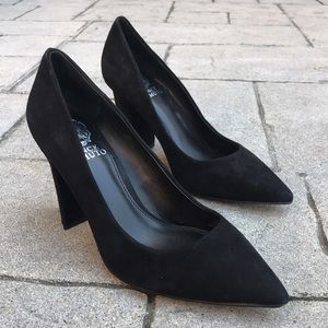 Black Vince Camuto Candera Suede Pointed Toe Pumps